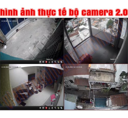 BỘ 4 CAMERA HIKVISION 2.0Mp