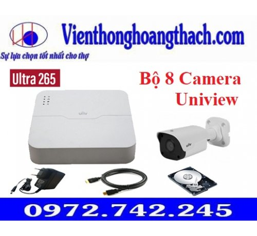 Bộ 8 Camera IP UNIVIEW 2MP