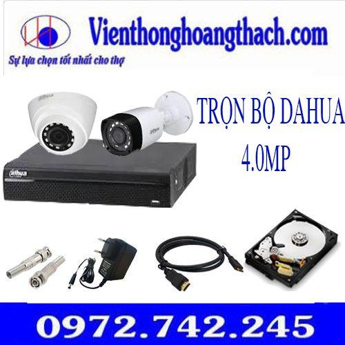Bộ 15 camera Dahua 4.0Mp,trọn bộ 15 mắt dahua 4mp,bộ camera dahua 4 chấm,camera dahua