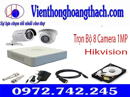 BỘ 8 CAMERA HIKVISION 1.0Mp