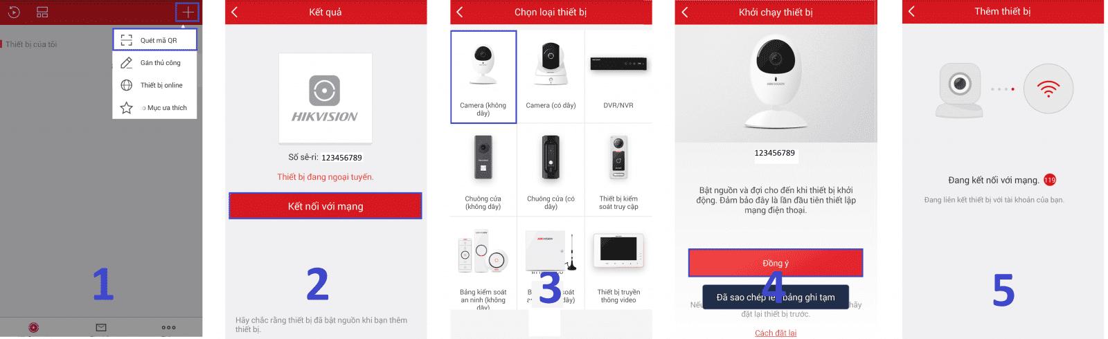 Các bước cấu hình và cài đặt camera wifi xoay 360 của hikvision