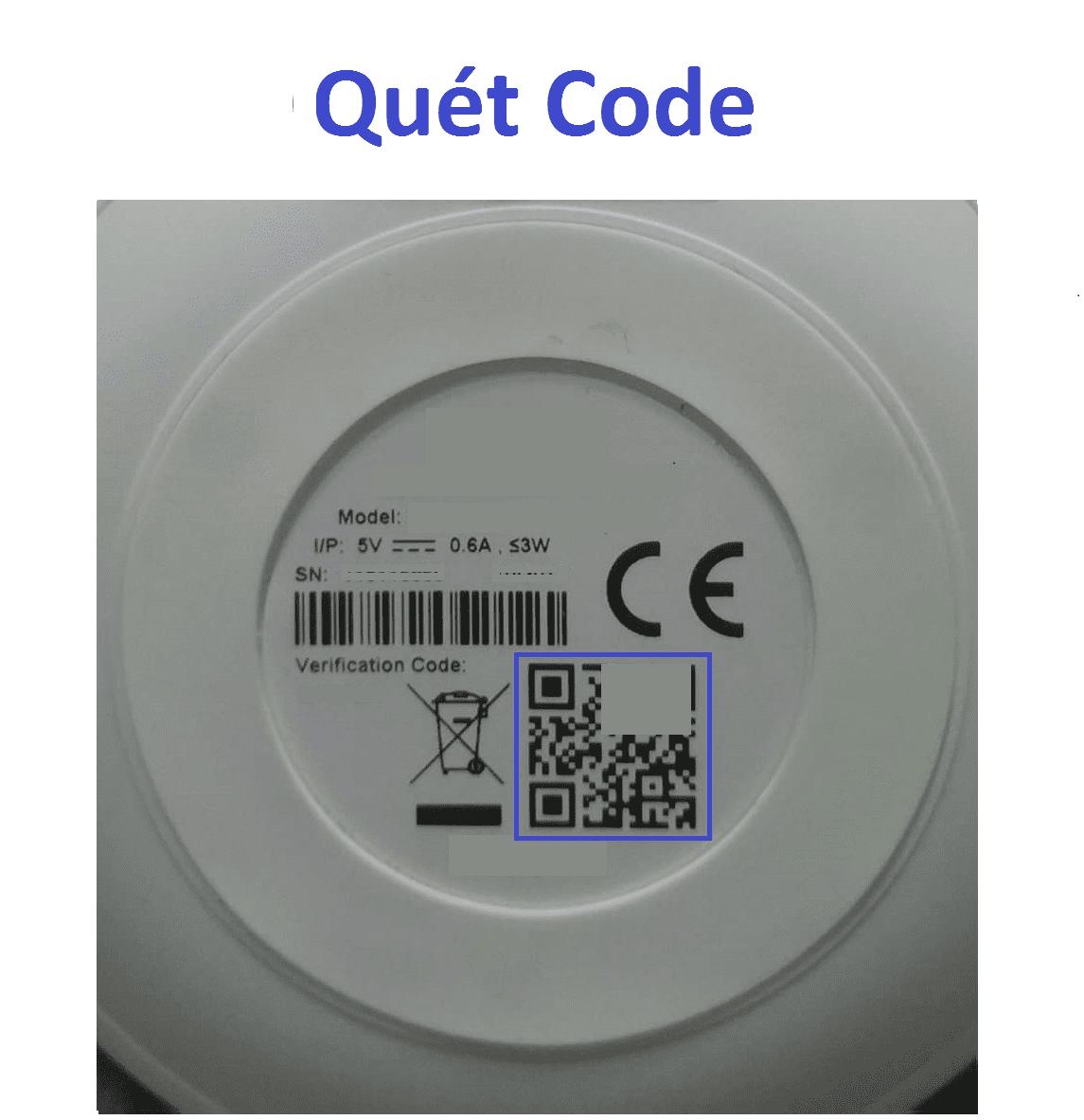 quét code trên thiết bị camera wifi