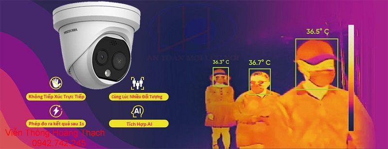 giám sát thân nhiệt với camera DS-2TD1217B-6/PA(B) hikvision