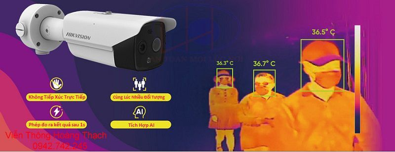 giám sát thân nhiệt với camera DS-2TD2617B-3/PA(B) hikvision