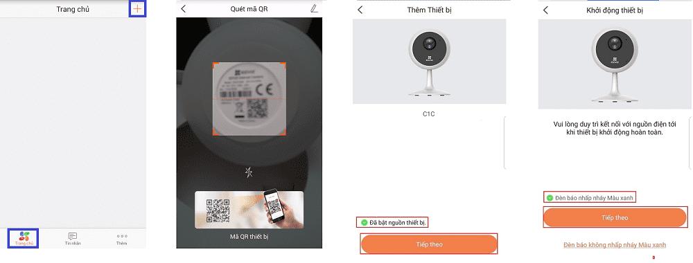 cách cài đặt camera wifi ezviz
