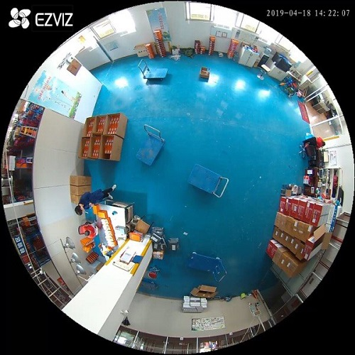 demo camera mắt cá C6P ezviz