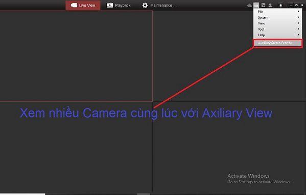 xem nhiều màn hình với Auxiliary Screen Preview của HIKVISION
