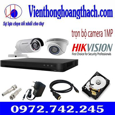 Bộ 9 camera hikvision 1.0Mp