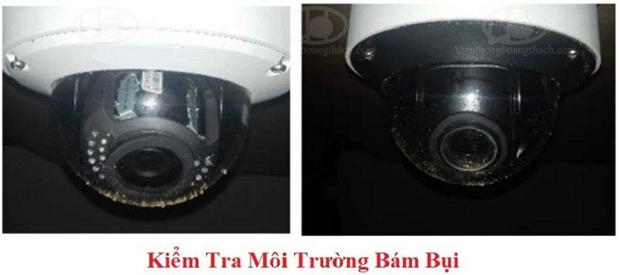 thử nghiệm Camera dome chống phản xạ