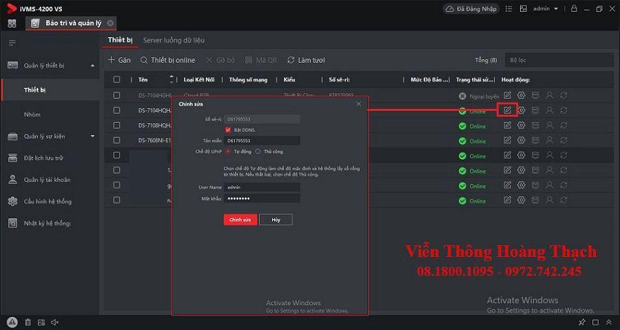 Sử dụng tên miền Hik-Connect trên phần mềm IVMS 4200 VS