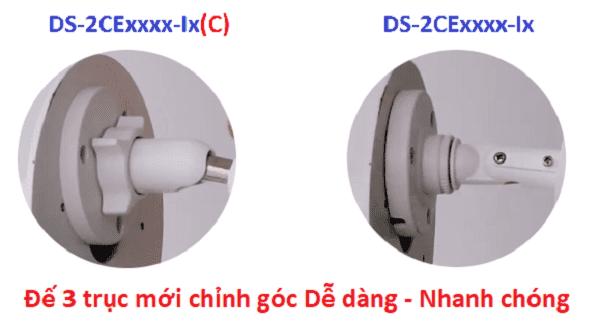 Kiểu chấn đế 3 trục mới trên các mẫu camera ITC