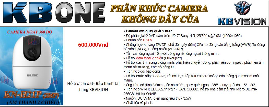 camera KBONE H21PW
