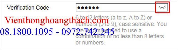 Mã xác thực Verification cho camera ip HIKVISION