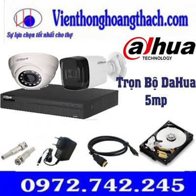 Bộ 9 camera Dahua 5.0Mp