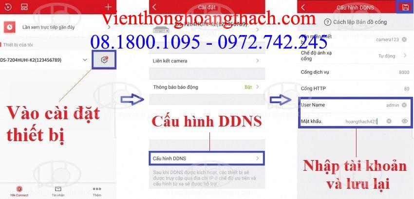Hik-connect domain trên điện thoại