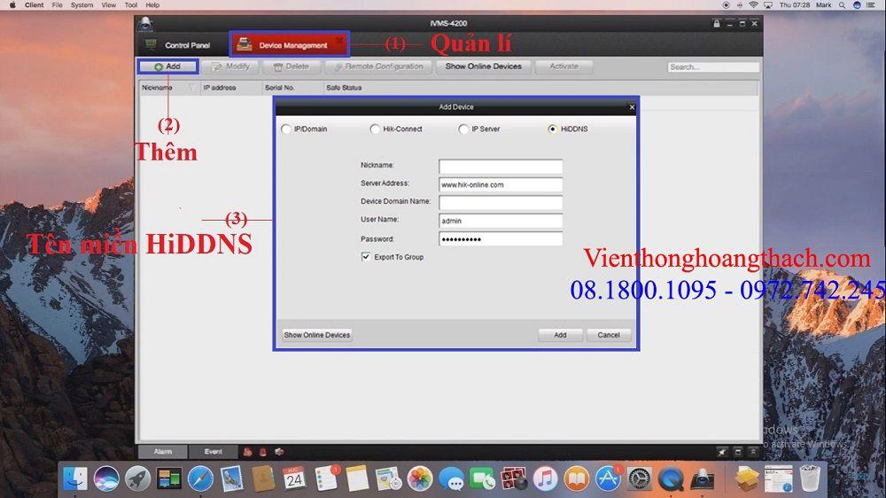 Cài HiDDNS trên MAC OS