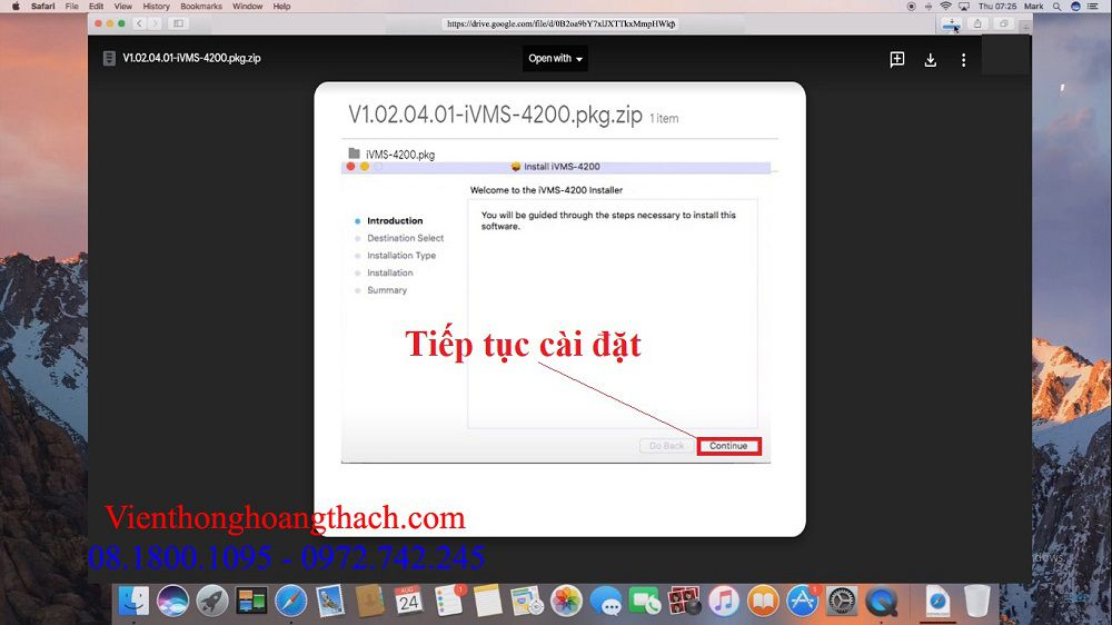 cài đặt IVMS-4200 cho macbook