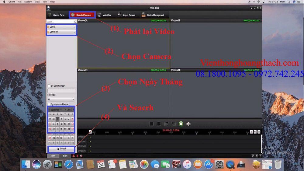 Phát lại camera HIKVISION trên MAC OS
