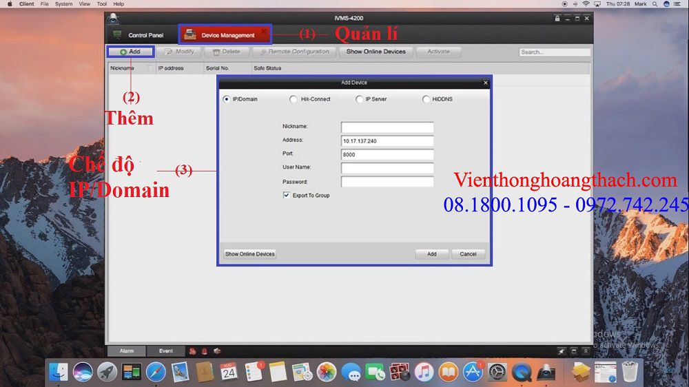 Cài đặt TÊN MIỀN Domain trên MACBOOK
