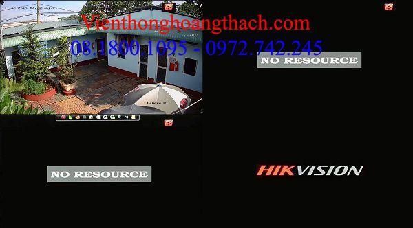 Lỗi no resource đầu ghi NVR và camera ip hikvision