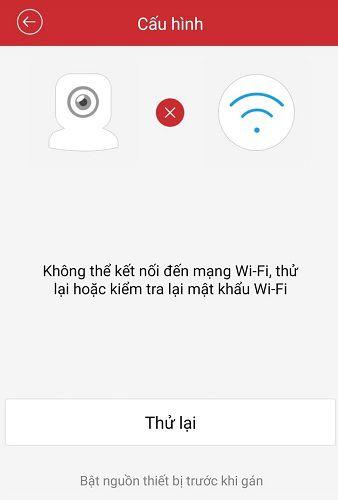 lỗi kết nối wifi thất bại camera hikvision