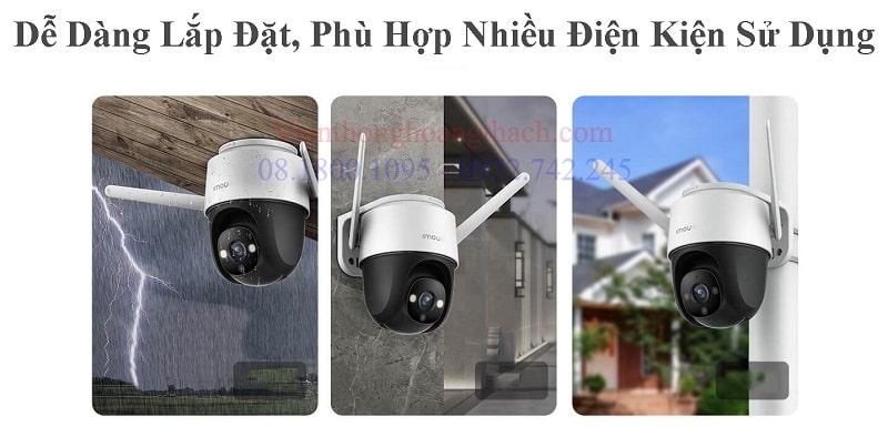Camera wifi PTZ Ngoài trời quay quét 360 của IMOU