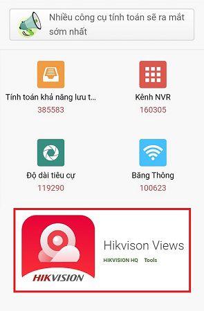 Tính dung lượng lưu trữ và băng thông với HIKVISION VIEW