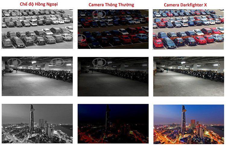 Hình ảnh demo thực tế từ 1 camera hikvision với công nghệ Darkfighter x TECHnology