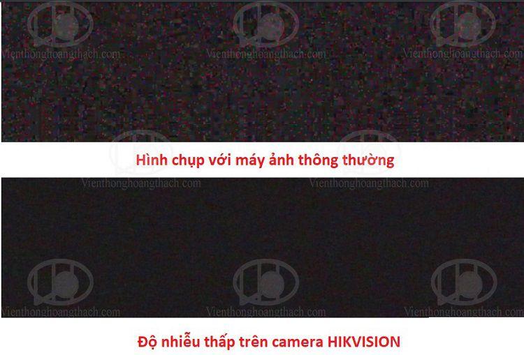 Camera HIKVISION Full Color với độ nhiễu thấp trong điều kiện ánh sáng yếu