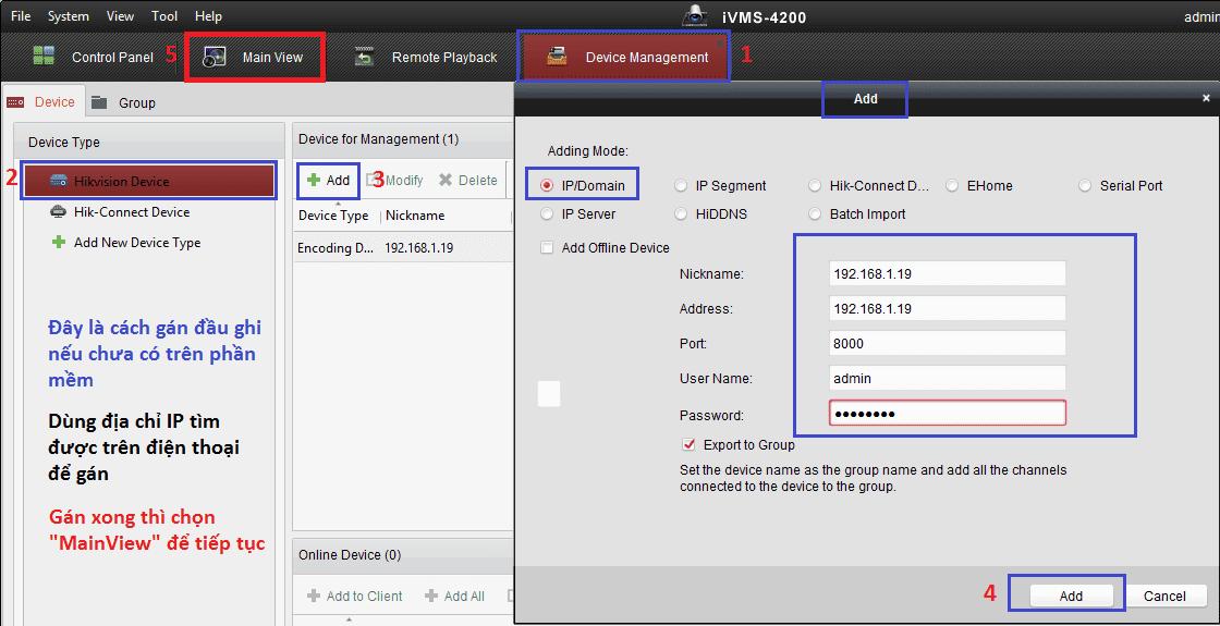 đổi mật khẩu trên ivms 4200
