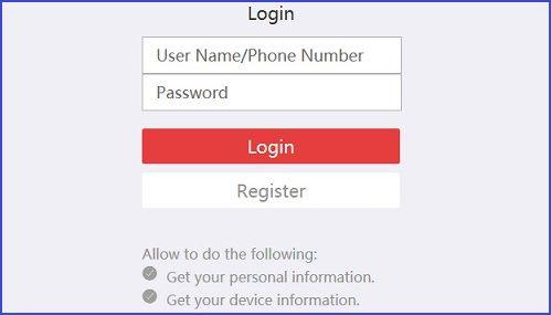 đăng nhập bằng tài khoản Hik-connect