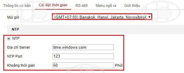 cài đặt thời gian và tự động cập nhật với NTP Server