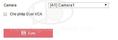 Cài đặt VCA Dual cho đầu ghi camera HIKVISION