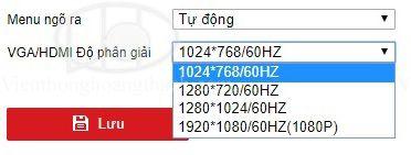 Chỉnh đầu ra HDMI/VGA cho đầu ghi NVR/DVR HIKVISION
