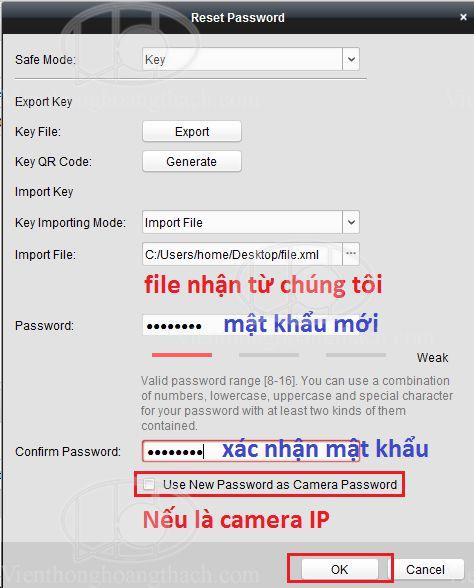 dùng phần mềm ivms khôi phục mật khẩu đầu ghi HIkvision