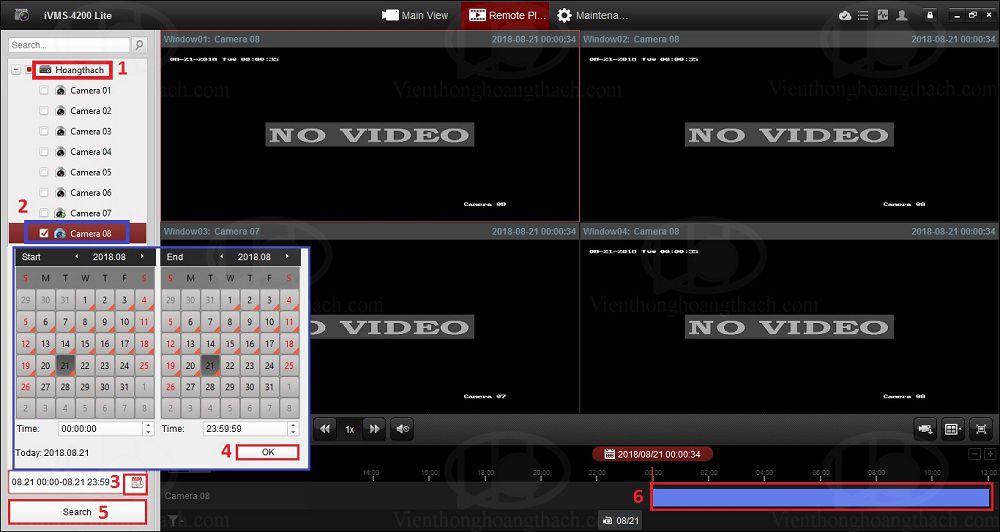 xem playback trên IVMS-4200 Lite
