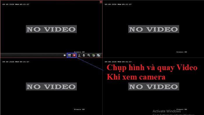 Chụp hình và quay video cho camera hikvision