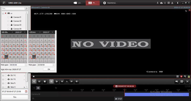 Phát lại video camera hikvison trên máy tính qua phần mềm